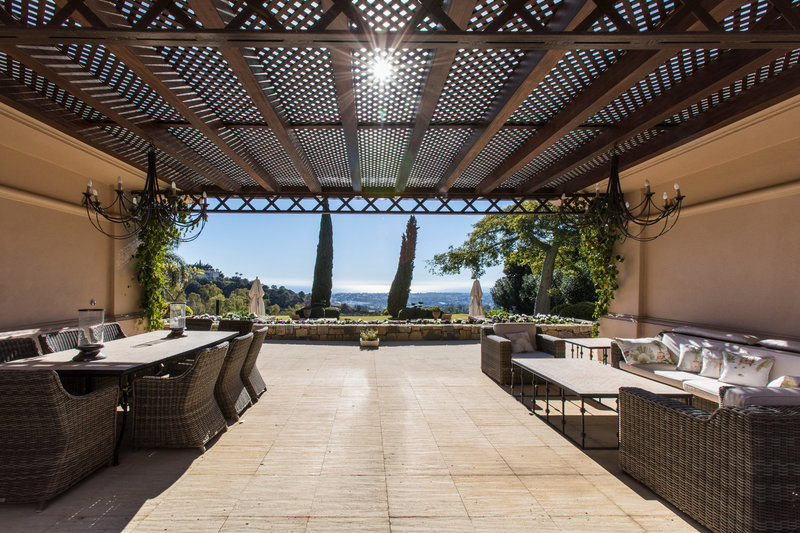 Terrace of Spectacular villa in Benahavis