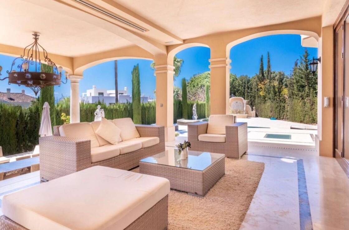 terrace of sierra blanca villa