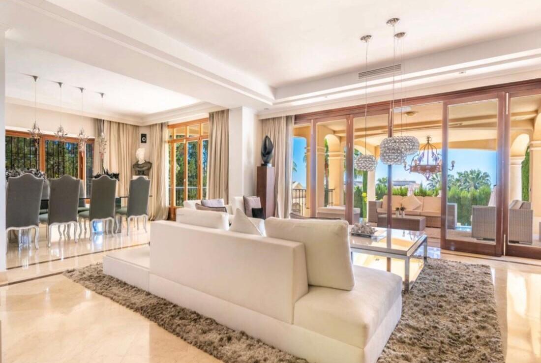 living room of sierra blanca villa